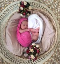 Newborn Clara e Larissa