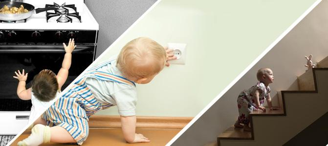 Mantenha a casa segura para o bebê
