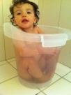 O banho de balde continua relaxante!