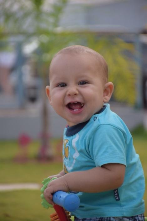 Esse é o pequeno Gabriel.